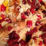 Chicken Orzo with Sun-Dried Cherry Tomatoes & Asiago Cheese