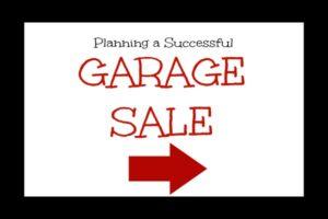 Planning a Successful Garage Sale