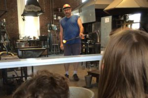 glass blowing at The Works