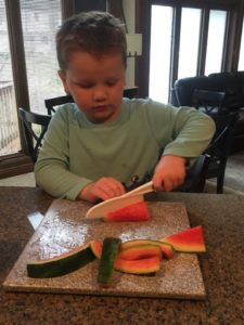 Kids love to help with preparing foods!