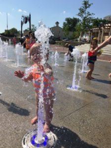 Having a blast at the new Splash Pad in Hilliard!