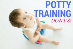 Potty training dont's