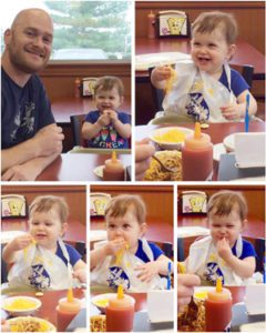 Thanks to Skyline, we are out to lunch with a happy kid!
