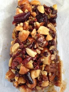sticky honey nut bars