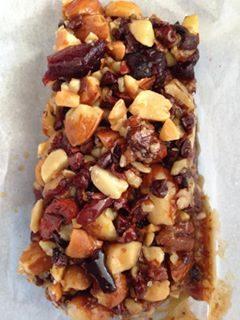 sticky honey nut bars