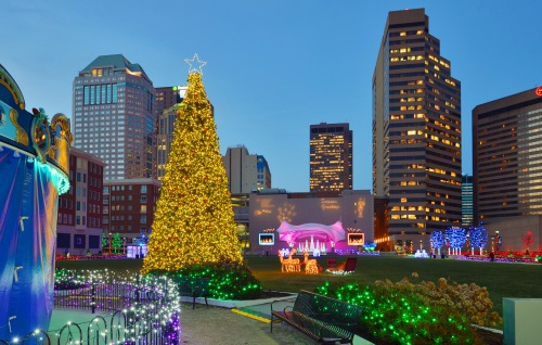 Columbus Commons Holiday Lights