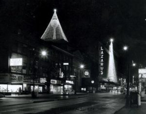 Lazarus all decked out for the holiday season. Photo courtesy of Ohio Historical Society and Vintage Columbus.