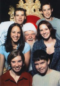 Me with my brother and cousins in one of our last Santa photos.