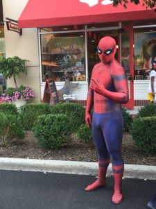 Spiderman at free event