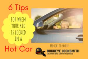 Kid locked in car