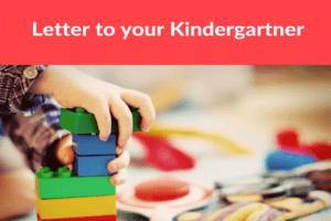 Letter to Kindergartner