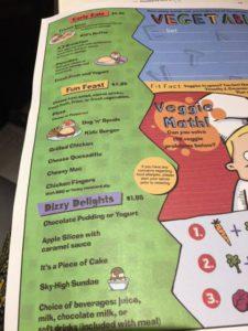 staycation kids menu