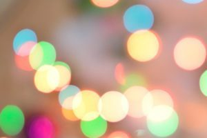 colorful christmas bokeh