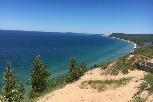 Sleeping Bear Dunes Vacation Empire Bluff Trail and Overlook