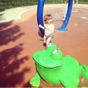 splash pad at Worthington Lagoon