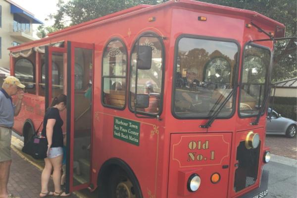 trolley ride in Hilton Head