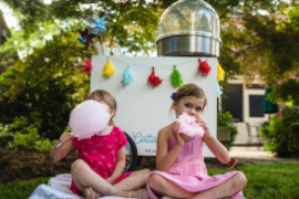 cotton candy machine at birthday party
