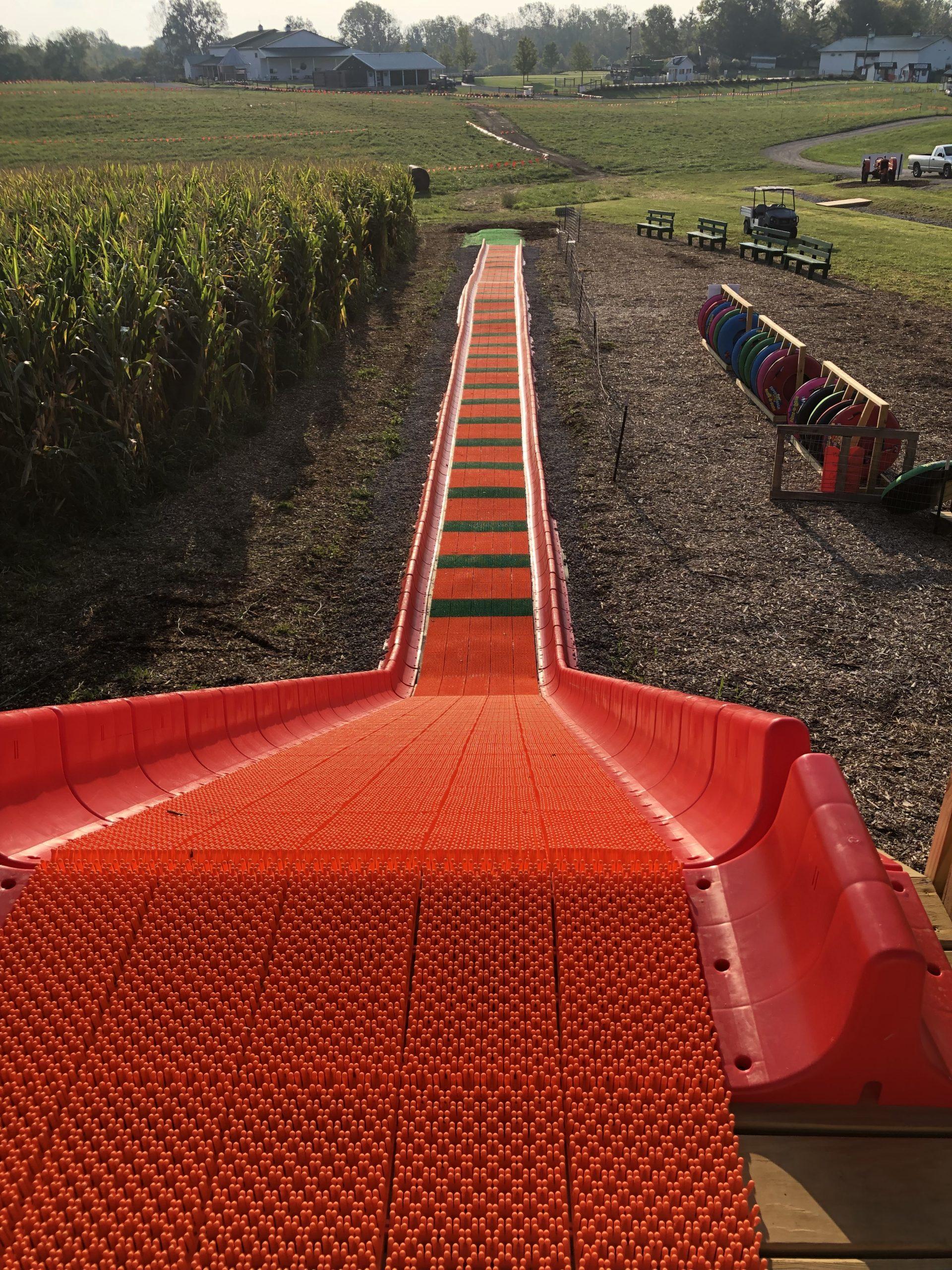 Pumpkin patch slide
