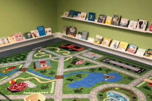 children's play areas at Bexley library in Columbus, Ohio