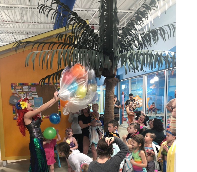 Noon Year's Eve balloon drop for kids