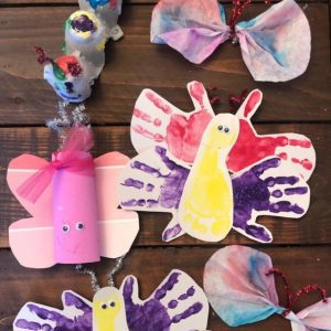 various butterfly crafts