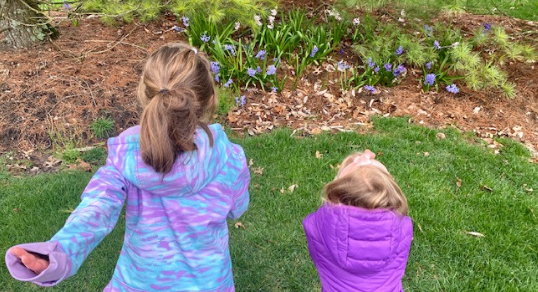 talking to fairies in garden