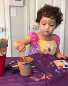 painting pots with kids