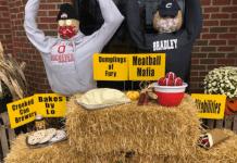 scarecrow decorations around Hilliard