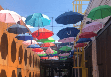 Umbrella Art at Easton