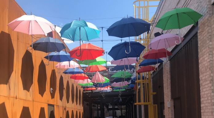 Umbrella Art at Easton